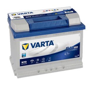 varta blue dynamic efb N70 12V 70AH