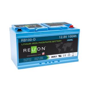 Batteria al litio LiFePO4 da 12 V 100Ah DIN