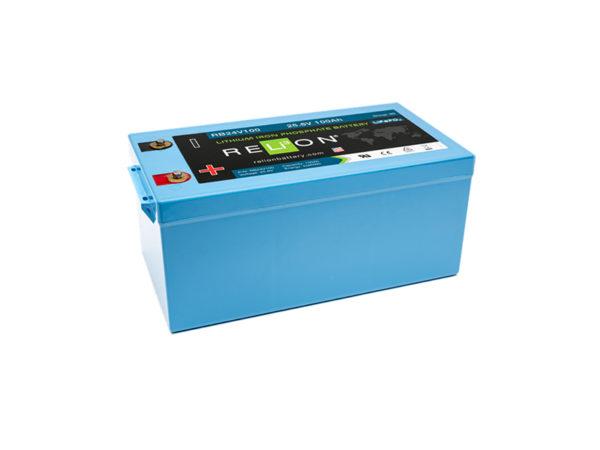 Batteria al litio LiFePO4 da 24 V 100Ah per veicoli elettrici e servizi camper e nautica